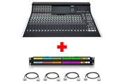 SSL XL-Desk | 24x8x2 Mixing Console (Half Loaded) with Patchbay & Cabling Package