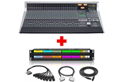 SSL AWS 924 Delta | 24 Channel Analog Workstation System with Patchbay & Cabling Package