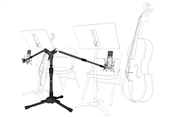 Triad Orbit Double Bass and Cello Mic Stand System