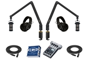 Yellowtec 2-Person Complete Mobile Podcasting Bundle with Sontronics Podcast Pro Microphones | Medium (Black)