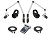 Yellowtec 2-Person Complete Mobile Podcasting Bundle with Shure MV7-S Microphones | Medium (Silver)