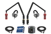 Yellowtec 2-Person Complete Mobile Podcasting Bundle | Medium (Sontronics - Red)