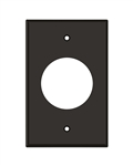 "1 Gang 1.5"" Wire Port Plate Brown"