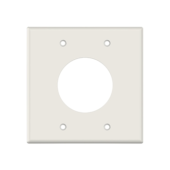 "2 Gang 2"" Wire Port Plate Lt. Almond"