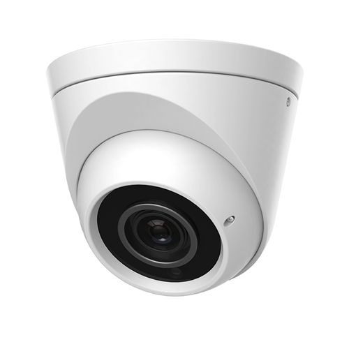 4MP IP White Dome Camera, 2.8-12MM Lens, P2P, UPnP, PoE, IR 164'