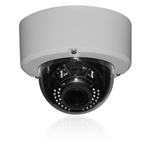 4MP IP White Dome Camera, 3.3-10.5MM Motorized Lens, PoE