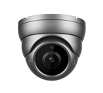 4MP IP Grey Dome Camera, 2.8-12MM Lens, P2P, PoE, IR 164'