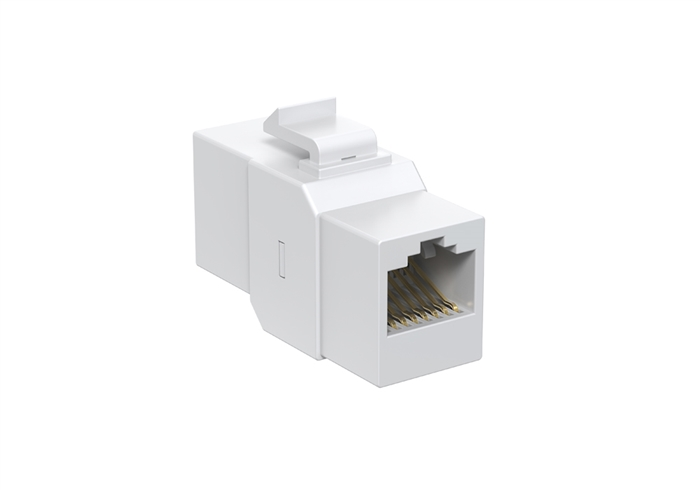 White Cat5e Inline Keystone Coupler