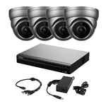 (1) 4 + 2 Channel 4K XVR 1TB with (4) 2MP Fixed Lens Cameras & Power Supply KIT