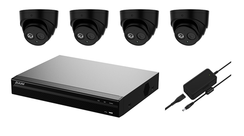 4 + 2 Channel 4K Video Recorder (1TB) with (4) 5MP Camera Kit