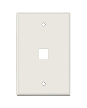 Lt. Almond Keystone MIDSIZE 1 Hole Wall Plate