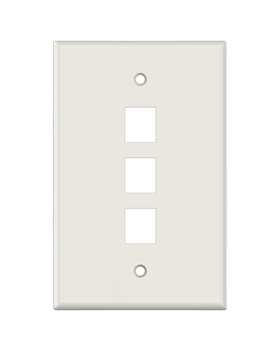 Lt. Almond Keystone MIDSIZE 3 Hole Wall Plate