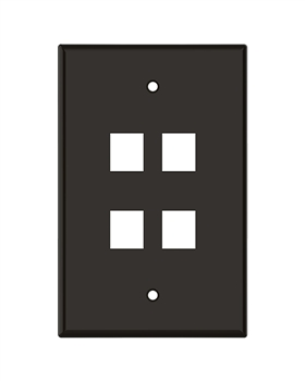 Brown Keystone Standard 4 Hole Wall Plate