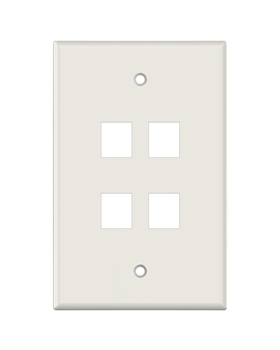 Lt. Almond Keystone MIDSIZE 4 Hole Wall Plate