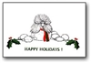 Poodle Holiday Card