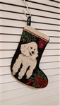 Poodle Christmas Stocking