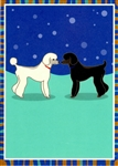 """Nose to Nose"" Poodle Notecard"