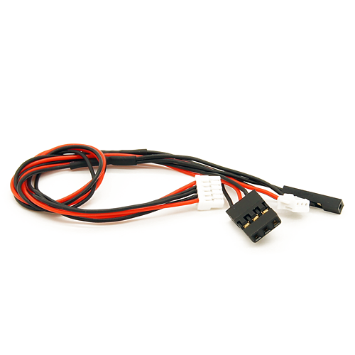 mRo 5-Pins JST-GH to 3-Pins Servo and 3-Pins JST-ZHR and 1-Pin (2 54mm)  Female - MRC0204