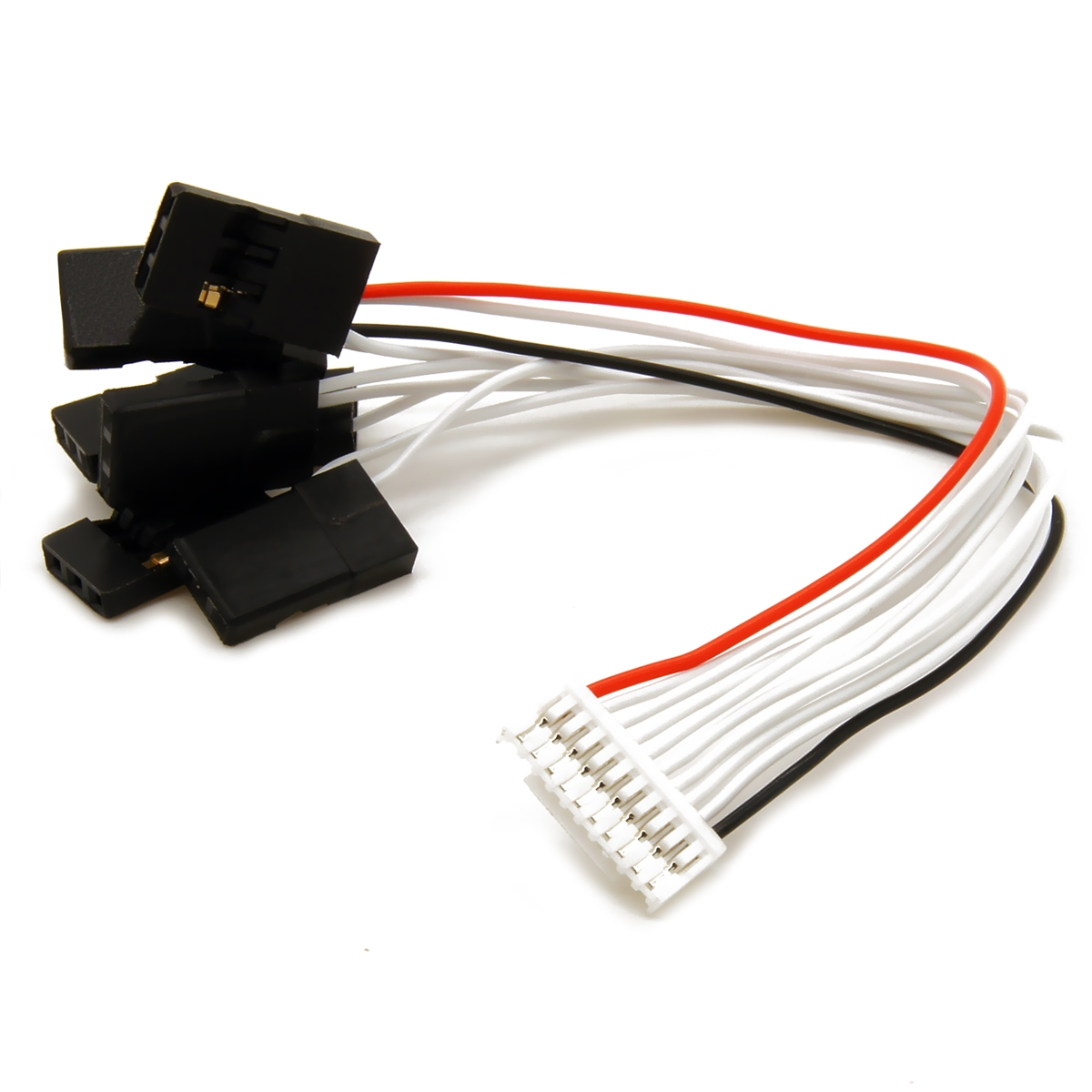 mRo 10-Pins JST-GH to 8 Individual JR Servo Plugs - MRC0210