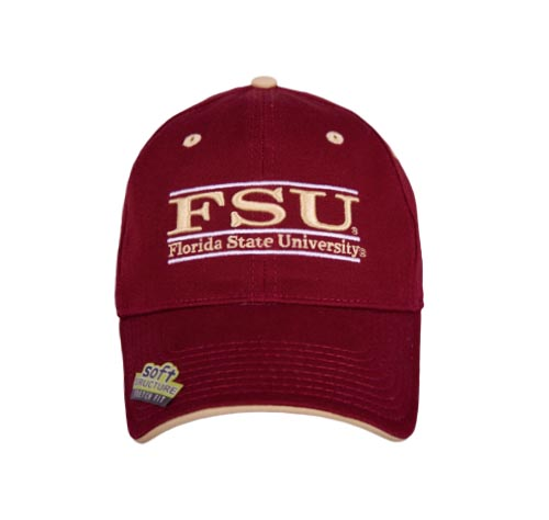 Florida State Stretch Fit College Bar Hats by The Game 1d0a2cac09ad
