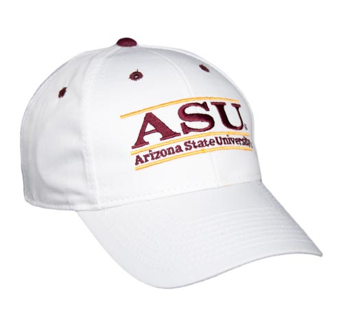 The Game Arizona State Sun Devils Classic Adjustable Bar Nickname Hat White,