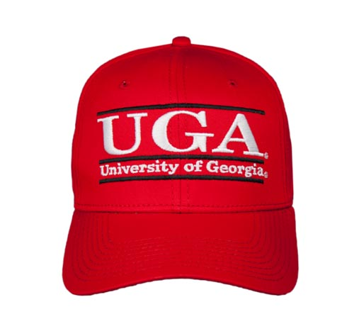 Georgia Large Retro Snapback College Colors Bar Hats by The Game 29becac563f