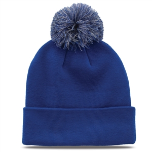 GB461 - Beanie Roll-Up with Pom