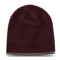 GB462 - Beanie Striped - Contrasting Trim