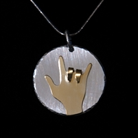 I Love You Hand Pendant