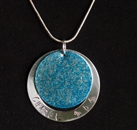 Inked Pendant - Blue Mom