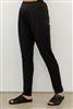 Line Twelve Black Slim Leg Pant with Side Pockets
