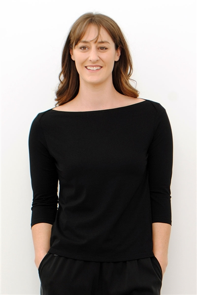 Line Twelve black boat neck top