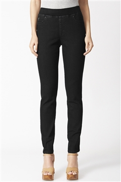 Verge Gem Jean in Black Stretch Denim