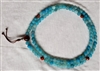 Mala, Long, Matte  Aqua Blue Fire Agate