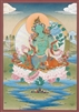 Thangka, Original Painting by RD Salga, Green Tara, 20 x 30 inches