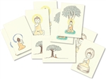 "Buddha Greeting Cards (Small 3.5 x 5"") – Limited Edition Set of 10, with art and quotes by Dzogchen Ponlop Rinpoche"