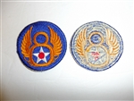 1810 WW 2 US Army 8th Air Force standard Patch USAAF R13A