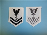 0925 US Navy Coast Guard WW 2 Second 2nd Class Dog Handler Rate White