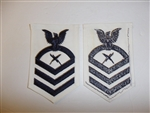 b6086 US Navy Rate Communications Technician Chief Petty Officer white IR34B