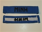 b8455 RVN South Vietnam Navy Name Tape MINH IR9A