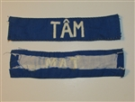 b8457 RVN South Vietnam Navy Name Tape TAM IR9A