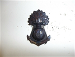 0314 WW 1 French Colonial Infantry Helmet Plate Adrian France RF GD7