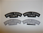 e1669 WW1 British Royal Flying Corps RFC shoulder tabs pair variation  R21B3