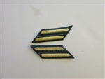 e0290-2 US Army Long Service Stripes AG44 Yellow/Green 2 Stripes 6 Years R2E