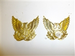b0325 RVN Vietnam Air Force Officer 1950's Cap Badge gold color IR7B