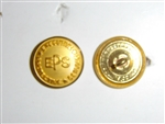 b2437 EPS Button 1950's Executive Protection Service  Large Gold B2D17