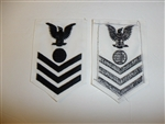 b6085 US Navy Rate Electrician's Mate 1st class white IR34C