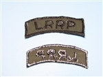 b8372 US Army Vietnam Long Range Reconnaissance Patrol LRRP black on OD IR36A