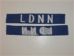 b8460 RVN South Vietnam Navy Frogman Name Tape LDNN Lien Doi Nguoi Nhai var IR9A