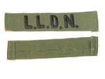 b8463 RVN South Vietnam Navy Frogman Name Tape LLDN OD subdued IR9A